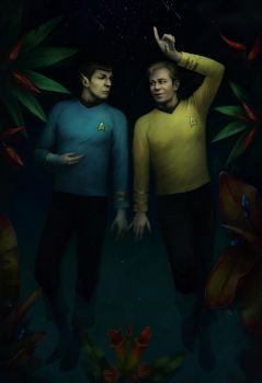 Kirk and Spock by KarlaFrazetty