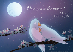 I love you to the moon and back by Nanabuns