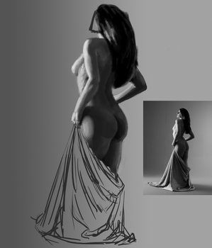 Photo value/painting study by Storse