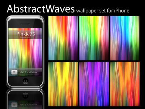 Abstract Waves iPhone Pack by Pinkie75