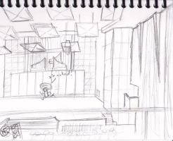 First Sketch of College by quazo