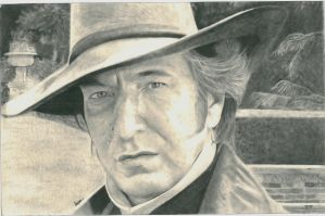 Alan Rickman as Colonel Brandon by Aspiflette