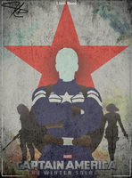 Captain America: The Winter Soldier Retro Poster by LTRees