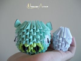 3D Origami - Angry Birds Pig Has An Egg by Jobe3DO