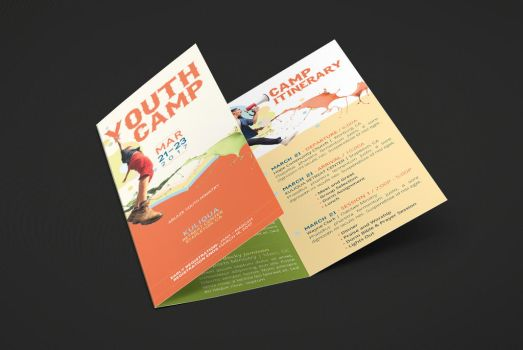 Youth Camp Tri-Fold Brochure Template by Godserv