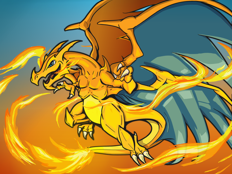 COTM 'LEVEL CAP': LVL99 charizard entree by DragonLoreStudios