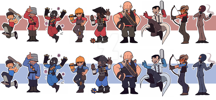 TF2 - Mercs stickers! by BloodyArchimedes