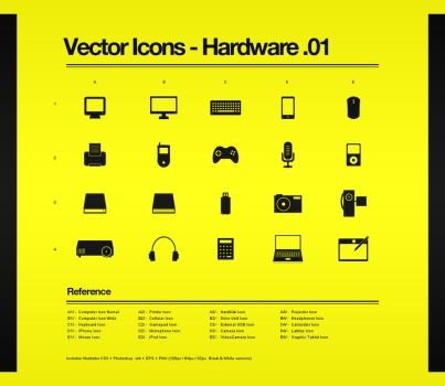 Vector Icons - Hardware.01 by Bobbyperux