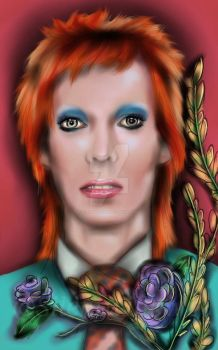David Bowie by SilentWillows