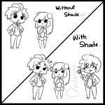 AA: With and Without Shade by Blackcaress