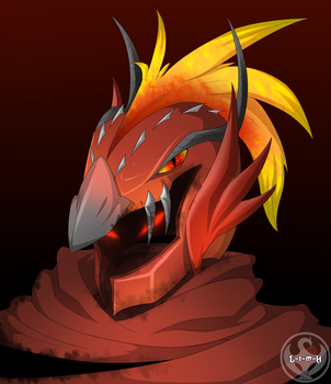 Draconian Helmet [Through The Fire And The Flames] by Lightning-in-my-Hand