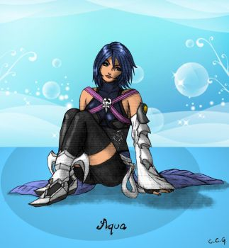 Aqua - Coloured by CCGTheArtist