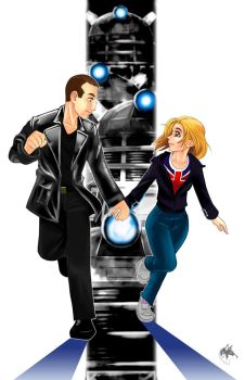 Ninth Doctor and Rose by Radiant-Grey