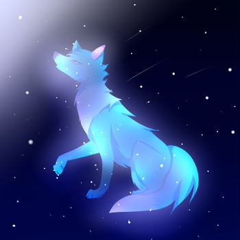A Wolf In The Sky by Crystal--Moon