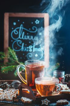 Cozy Christmas (with tea and cookies) by dinabelenko