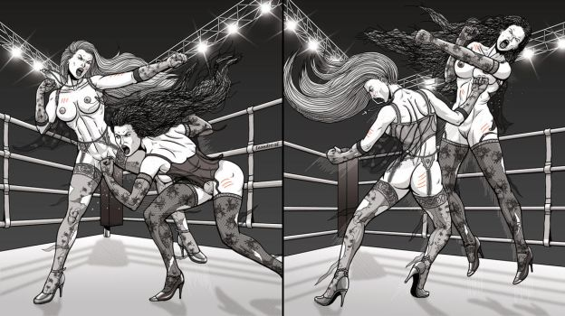 Commission Morderm Fight 6 Punch-out and Tap by leandro-sf