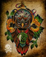 Commission - owl tattoo by WillemXSM