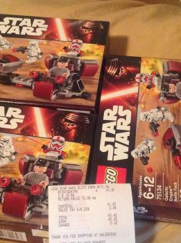 Oof. Retired Lego Star Wars Battlepack Haul by Tumalord635