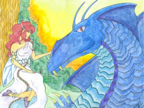 Blue Dragon and Faerie by shadesiren