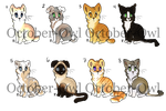 Adoptables - Cats - OPEN - 200 PTS by October-Owl