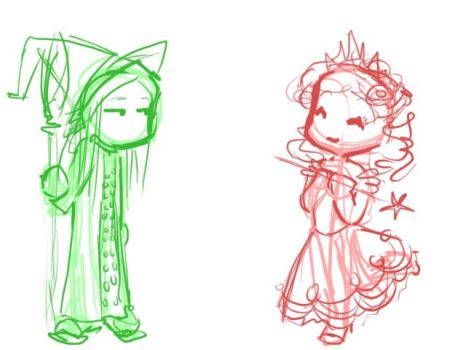 Wicked Chibis by willdrawforfood