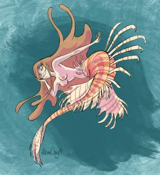 Lionfish Mermaid by SuperBarko