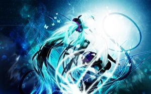 Hatsune Miku Wallpaper by Sanlea