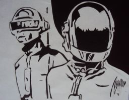 Daft Punk paper series by fear-0f-james