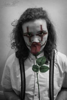 Red Rosed Clown... by DesignTheWild