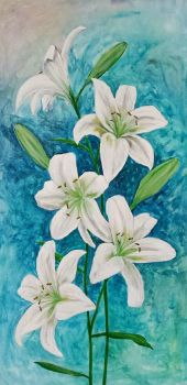 Flowers Large Acrylic by TheJennaBrown