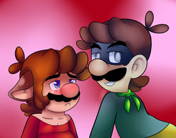 Wolfie mario confused by raygirl12
