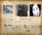 CP Subject Classification 6 - Jeff the Killer by MKUltra159