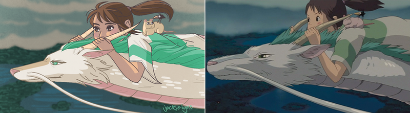 Spirited Away Screencap Redraw by Jackie-lyn