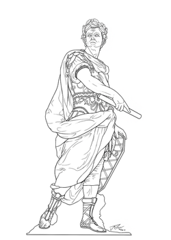 Julius Caesar Lineart by rousanilmy