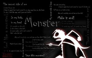 feel like a monster by darckvampireneko