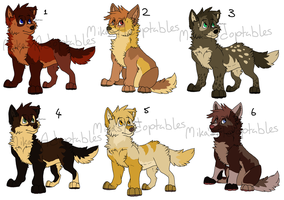 Wolf Pup Adoptables CLOSED by MikasAdoptables