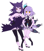 Gengar and Chandelure