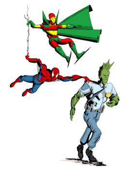 Spidey , Dragon and Mister Miracle colors by Abdjaoui