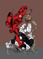 Daredevil vs Bullseye by Plugin848y