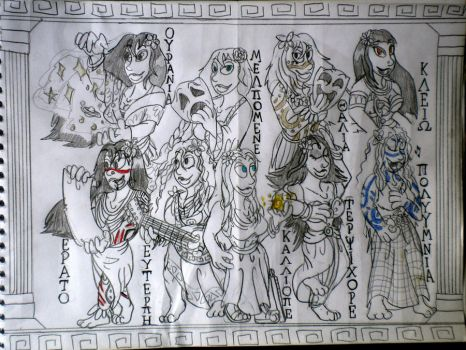 GUARDIANS OF THE ARTS - The Muses by DiamondheadMan