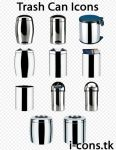 Trash Can Icons Set by mmr85