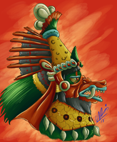 .:Commission:. Quetzalcoatl by Youalahuan