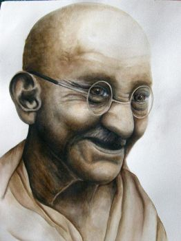 ghandi by serenap93