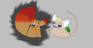 Fin and Flame Princess Kitties by Winged-blackshell