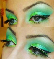 neon green by munstermakeup