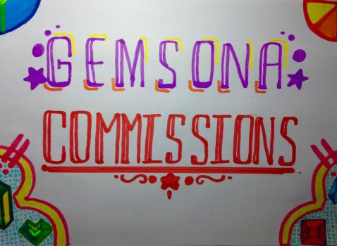Gemsona Commissions Grand Opening!! by cyceri