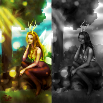Forest Faun by LuckyTeaLeaf
