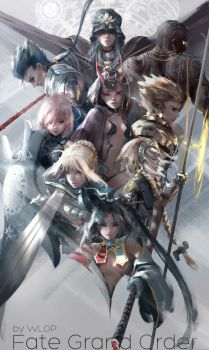 Fate/Grand Order by wlop