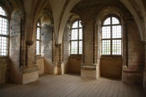 Gothic Castle Room by NickiStock
