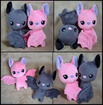 Bat Couple Plushies - Free Pattern by lazyperson202